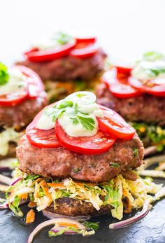 Spicy Jalapeno Turkey Burgers with Creamy Slaw | Get Inspired Everyday!