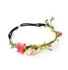 [Headband fleur couronne roses]