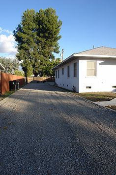 Gravel Driveway From Brick House