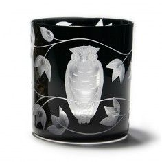 Artel Bohemian Glass - owl double old fashioned glass, can also be used as votive holder Owl Kitchen, Old Fashioned Glass, Wise Owl, Votive Holder, Night Owl, Hand Engraving, Decorative Accessories, Decorating Your Home, Glass Art