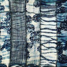 Beautiful simply stated. Mokume shibori and katazome layered. Properly done! #indigo #katazome #shibori