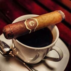 The perfect morning. #Coffee. #Cigar.