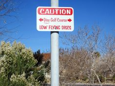 """What a great sign! We really enjoy the """"Frisbee"""" underneath the Disc Golf part :)"""