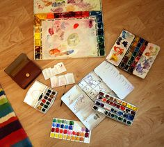 watercolor palettes | Flickr - Photo Sharing!