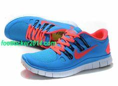 Nike Free Run 5.0 Size 12 Sky Blue Red Mens Shoes For Running