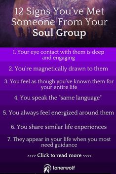 Signs You've Met Someone From Your Soul Group Your Soul Group will appear in your life to teach you lessons and to catalyze your spiritual expansion.Your Soul Group will appear in your life to teach you lessons and to catalyze your spiritual expansion. Reiki, Intuition, Affirmations, Soul Family, Psychic Development, A Course In Miracles, Your Soul, Just Dream, After Life