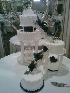 Split level wedding cake