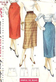 1950s Misses 1 yard Skirt
