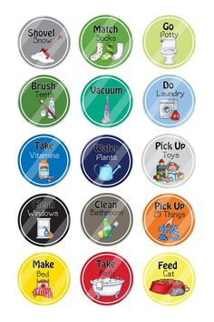 Chore Magnets Chore Chart Magnets Chore by ImageCreationStation                                                                                                                                                     More