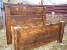 Very cool barn wood bed frame!