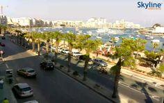 Live Cam The Strand, Sliema Bay and Manoel Island