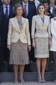 Royals & Fashion -Queen Letizia and Queen Sofia met with representatives of the foundation of the fight against drug addiction. The meeting was held at the Zarzuela Palace, in Madrid.