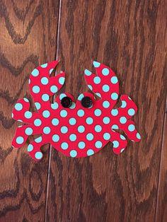 Crab Iron On Applique You Choose Fabric by EllaBaDellas on Etsy