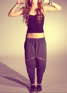Chachi pants. A pair of black, grey and maroon are officially on my wishlist.