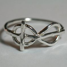 Infinity Cross Ring- i want this design in a tattoo