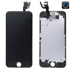 [$46.69] iPartsBuy 4 in 1 for iPhone 6 (Camera + LCD + Frame + Touch Pad) Digitizer Assembly(Black)