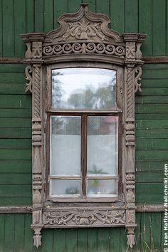 Window,Traditional Russian architecture . architectural details || Традиционный русский наличник