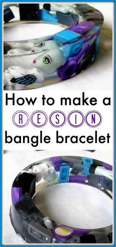 Instructions for resin casting a bangle bracelet