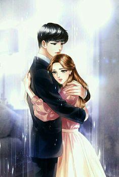 Me jaha rahoon,me kahi bhi rahoon,tteri yaad saath he! Cute Couple Drawings, Cute Couple Art, Anime Couples Drawings, Anime Couples Manga, Love Cartoon Couple, Cute Love Cartoons, Romantic Anime Couples, Cute Couples, Anime Couple Kiss