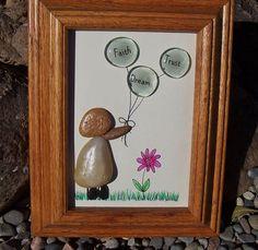 Pebble Art Rock Art Balloons Faith Dream by mitchellcreations