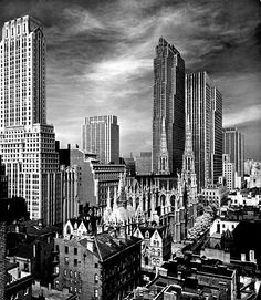 View of Midtown Manhattan, 1939 by Alfred Eisenstaedt If ever in your mind you imagined a 'Gotham City' this seems like a good example.