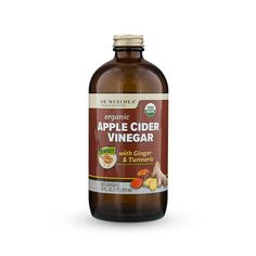 Mercola introduces Organic Apple Cider Vinegar Tonic with Ginger & Turmeric for supporting your healthy digestion and metabolism. http://products.mercola.com/apple-cider-vinegar/