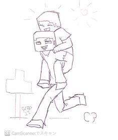Minecraft Anime, Minecraft Funny, Hunter Anime, Bendy And The Ink Machine, Cartoon Games, Fujoshi, Fan Art, My Love, Book