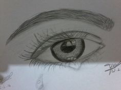 Karakalem göz çizimi
