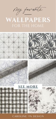 Looking for wallpaper for your home? I've made it easier for you by rounding up some of my absolute favorite wallpaper patterns below! Interior Decorating Tips, Interior Design Tips, House Design Photos, Cool House Designs, Coastal Homes, Coastal Living, Neutral Wallpaper, Trim Work, Wallpaper Patterns