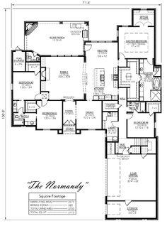 Contemporary European Ranch House Plan 59707