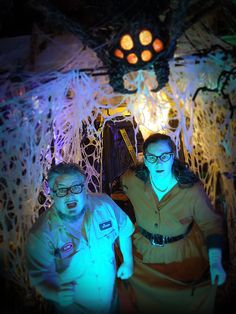 How to Haunt Your House .com - Invasion of the Giant Spiders - Lynne & Shawn Mitchell. These guys are masters of the home haunt, and if you don't have their book series How To Haunt Your House in your Halloween arsenal, you don't have anything!