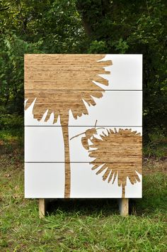 The dandelion and wasp deisgn compliments our popular dandelion graphic series. Constructed of FSC certified plywood with kirei doors and a graphic cut out of white gloss laminate.