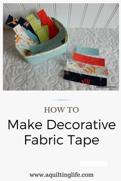 How to Make Decorative Fabric Tape | A Quilting Life - a quilt blog