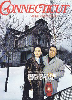 The real Ed and Lorraine Warren of The Conjuring in April 1972. Look at that Connecticut home in the background.