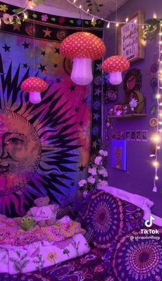 Indie Bedroom, Indie Room Decor, Cute Bedroom Decor, Room Design Bedroom, Room Ideas Bedroom, Bedroom Inspo, Chill Room, Cozy Room, Chambre Indie
