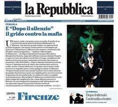 """13 gennaio 2015 - La Republica -  Roberto Incerti presenta lo spettacolo """"Dopo il Silenzio"""" in scena al Teatro della Pergola dal 13 al 18 gennaio 2015"""