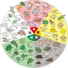 食材5色バランス健康法による鍋食材分類チャート