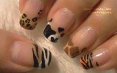 Animal prints para la decoración de uñas