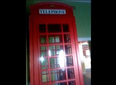 ENGLISH TELEPHONE BOOTH. RED WITH GLASS PANES http://www.ksl.com/?nid=218&ad=36201165&cat=71&lpid=&search=&ad_cid=9