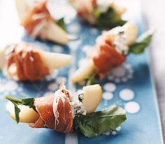 Prosciutto adds a bit of salty tang to the classic combination of pears and blue cheese.