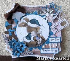 Marja's Kaarten: Sending Christmas Hugs