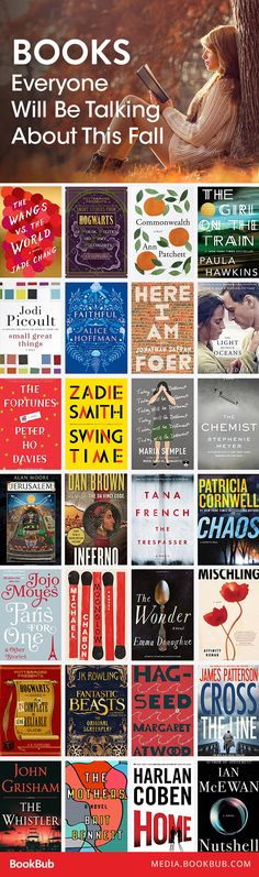 27 books to read fall 2016. Everyone will be talking about these must-read books!