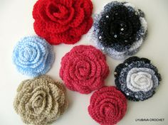Tutorial Crochet Pattern Crochet Rose Flower, Large Rose Flower 3D Tutorial, Instant Download PDF File Lyubava Crochet Pattern Number 17