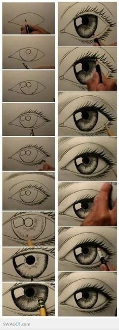 I've tried this and its so easy and it actually does look real. Now I can draw it without even looking ♡
