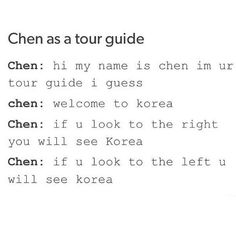 Chen as a tour guide