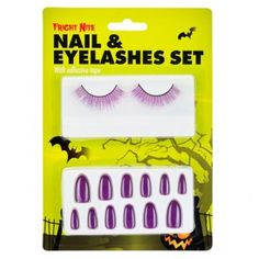 Nail And Eyelashes Assorted Colours - Halloween Fancy Dress - Halloween