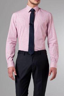 Thomas Mason- Navy, Red & White Stripe Shirt Red White Striped Shirt, Red And White Stripes, Men's Shirts, Casual Shirts, Bespoke Shirts, Mens Attire, Men's Wardrobe, Well Dressed Men, Shirt Dress