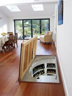 Top marks for this self-assembly wine cellar. modern wine cellar by homify modern Home Wine Cellars, Cellar Design, Hidden Rooms, Design Case, Future House, Living Room Designs, Diy Home Decor, House Plans, Sweet Home