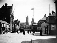 Sandy Row, from Donegall Road looking towards Lisburn Road. Belfast.  10/5/1946 BELFAST TELEGRAPH COLLECTION/NMNI