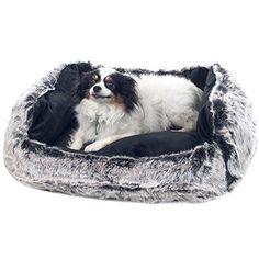 PETMAKER Small Faux Fur Black Mink Dog Bed, 23 x 19 - Great price on a great product.This PETMAKER that is ranked 226027 in the list of the top-selling products Bolster Dog Bed, Dog Pillow Bed, Large Dog Crate, Large Dogs, Indestructable Dog Bed, Dog Shock Collar, Dog Car Seats, Best Dog Training, Dog Store